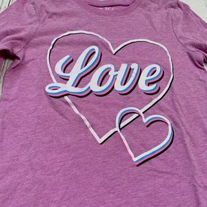 Children's Place Shirts & Tops - TCP Purple love LS shirt 5/6